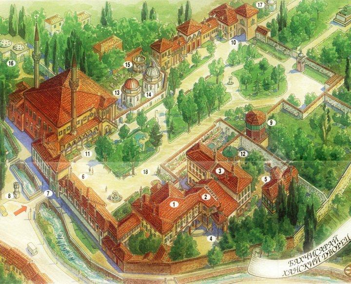 На новогодние праздники в Бахчисарае больше всего посещали Ханский дворец и Чуфут-Кале
