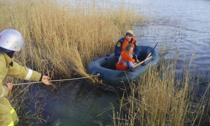 11-летнюю девочку унесло в озеро на самодельном плоту в районе поселка Орджоникидзе