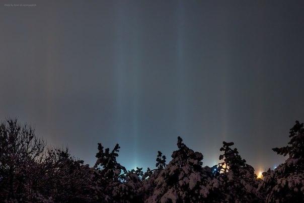 В Симферополе на Рождество жители наблюдали уникальное природное явление