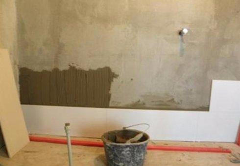 Укладки кафеля на стены в ванной