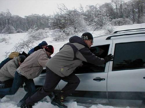 На автодороге Белогорск – Золотое поле застряло порядка 20 автомобилей