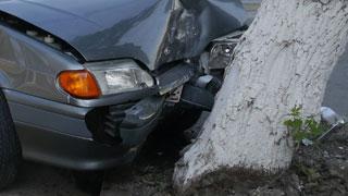 В Севастополе автомобиль врезался в дерево