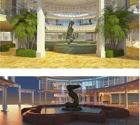 Ялтинский фонтан «Купальщица» станет светодинамичным