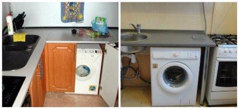 Особенности установки стиральной машины на кухне
