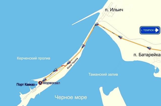 Для водителей на Керченской переправе оборудовали палаточный городок