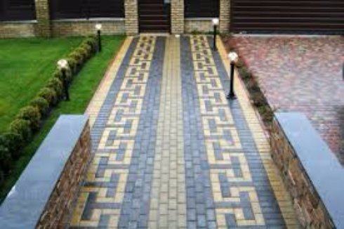 Устройство тротуарной плитки у своего дома