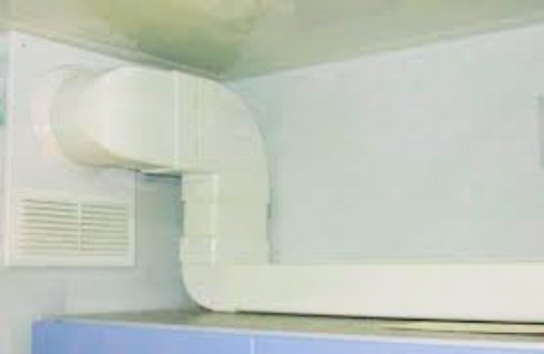 Прячем воздуховод на кухне или санузле