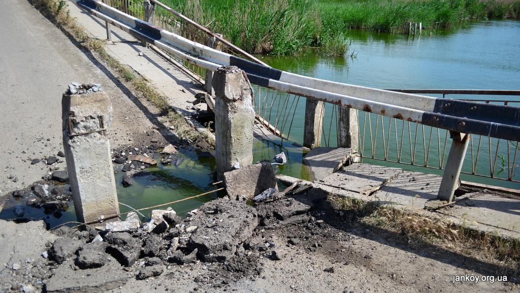 Восстанавливать мост в Джанкойском районе начнут не раньше октября из-за отсутствия финансирования