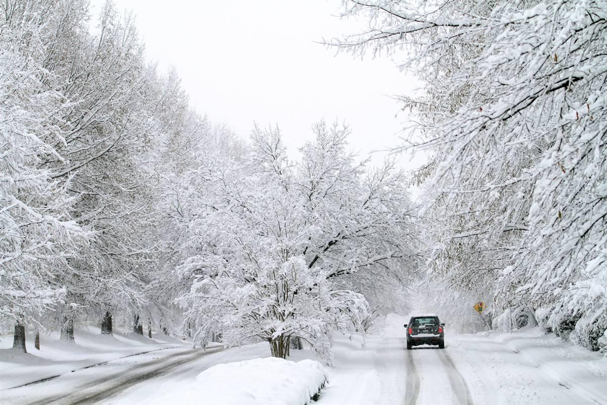 В Белогорском районе погодные условия осложнили движение большегрузного транспорта