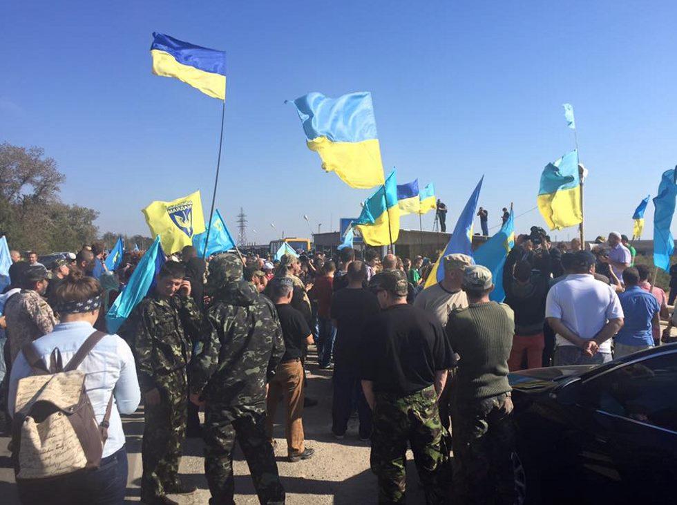 Участникам «блокады» Крыма запретили досматривать автомобили и пешеходов