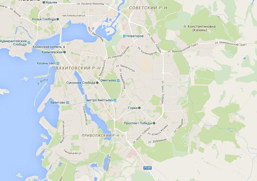 Интерактивная карта для комфортного отдыха в Казани