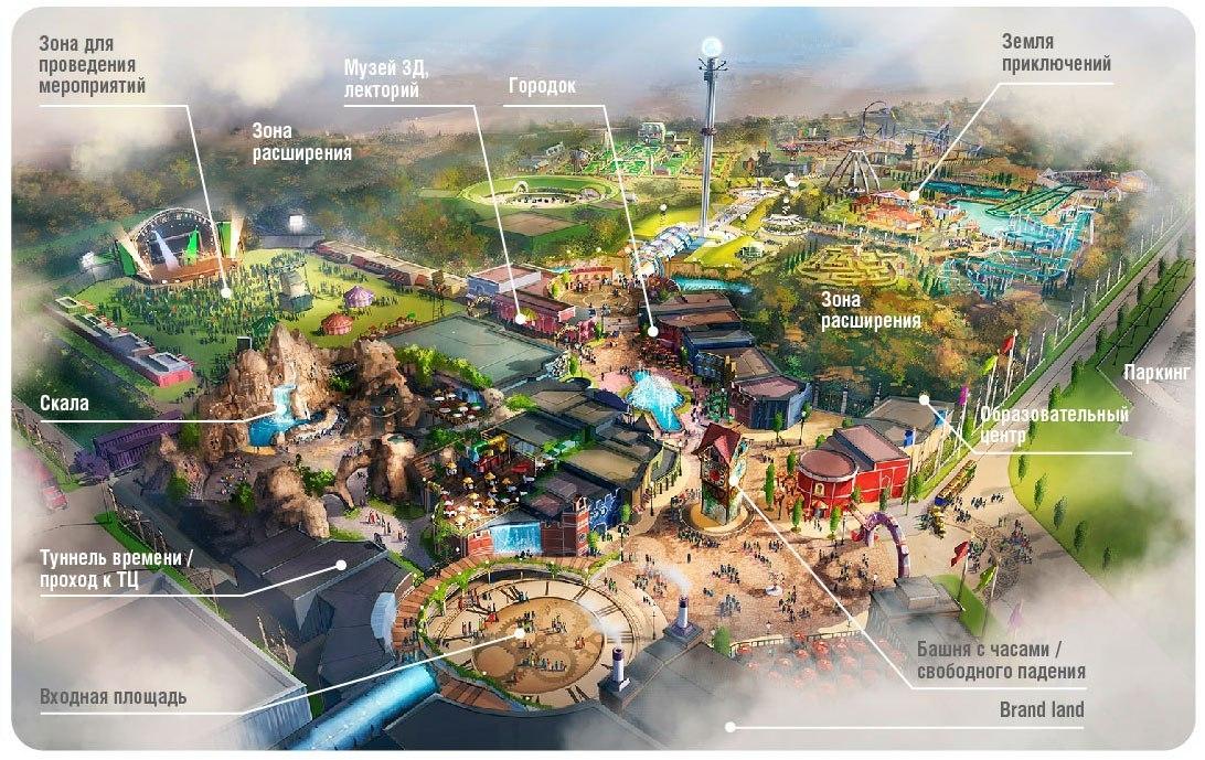 В Крыму началось строительство крупнейшего парка развлечений