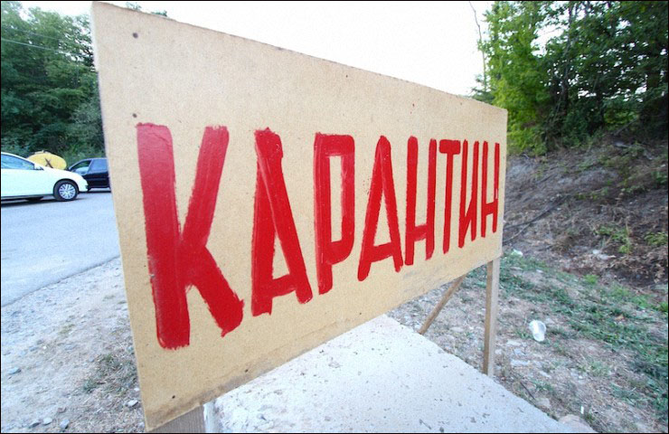 В Крыму вновь объявлен карантин