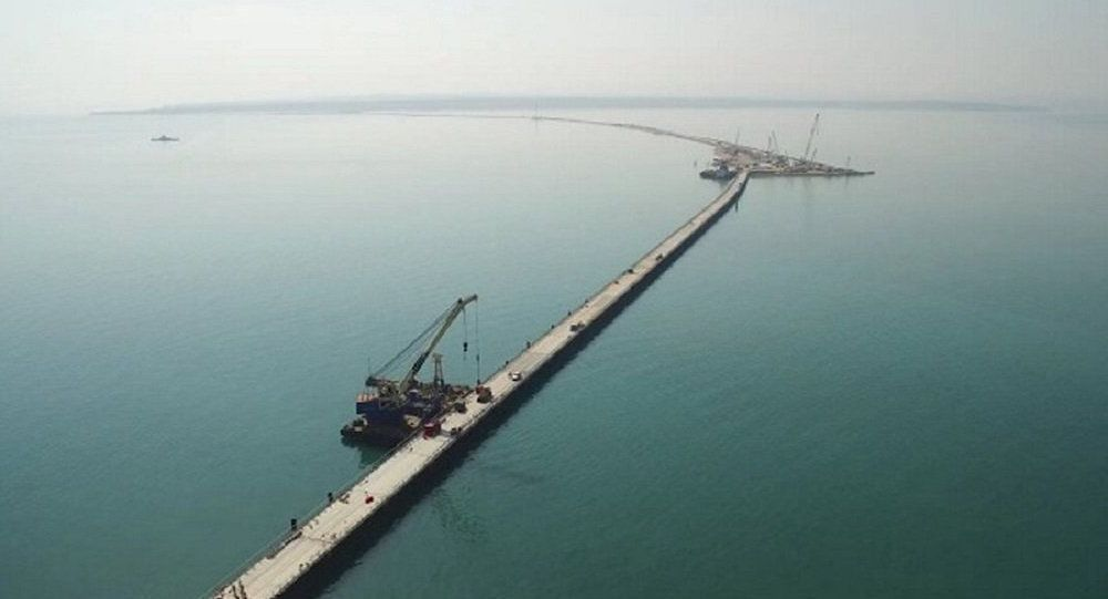 На месте строительства Керченского моста была проведена уникальная операция