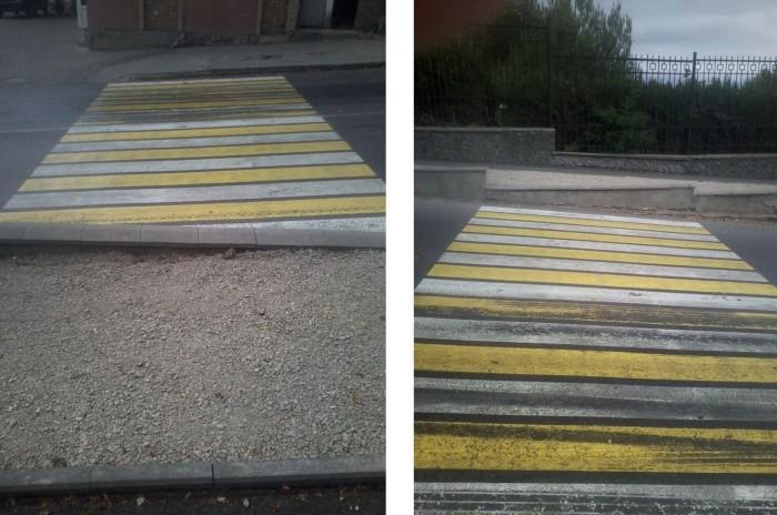 В Симферополе появился необычный пешеходный переход