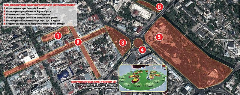 Центр Симферополя обещают открыть до 15 декабря
