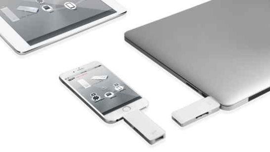 SP xDrive Z30 Lightning Dual USB — флешка для устройств Apple