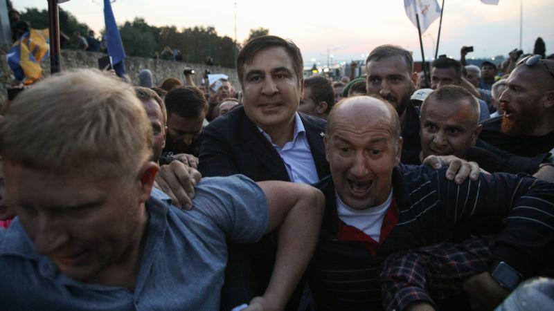 Суд заставил Саакашвили выплатить штраф за незаконное пересечение границы Украины