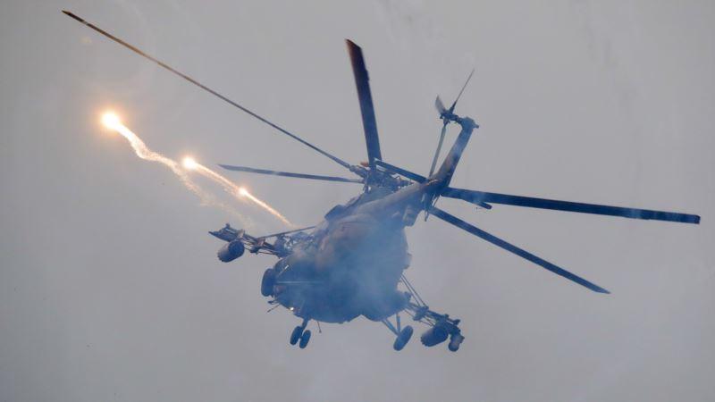 Российские СМИ: на учениях «Запад-2017» вертолет обстрелял зрителей