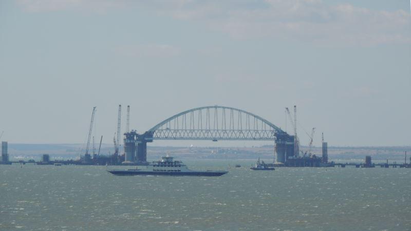 Арку Керченского моста подняли на опоры – на 35 метров – инфоцентр