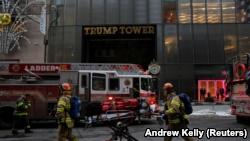 США: в Нью-Йорке три человека травмированы в результате пожара на крыше Trump Tower
