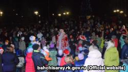 Бахчисарайцы встретили Новый год на концерте под дождем