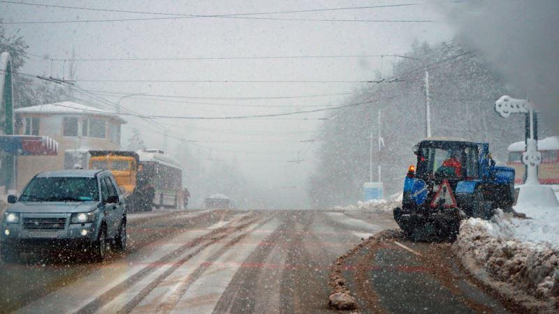 На Крым надвигается сильный ветер и метель – экстренное предупреждение МЧС