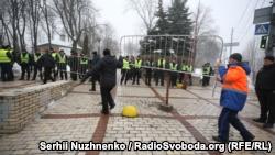 В Киеве в парке имени Шевченко митингуют сторонники партии «Движение новых сил» (+ фото)