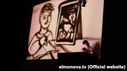 Крымская художница Ксения Симонова представила в Греции шоу «Песочные миры» (+фото)