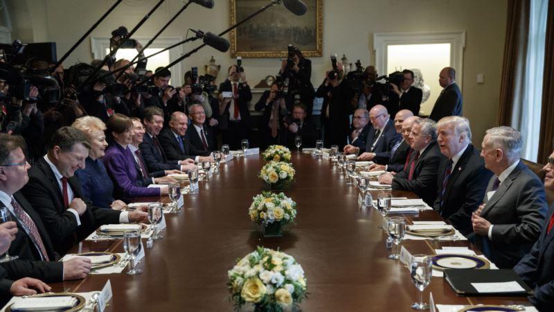 Трамп на встрече с балтийскими лидерами: «Никто не был более жестким по отношению к России, чем я»