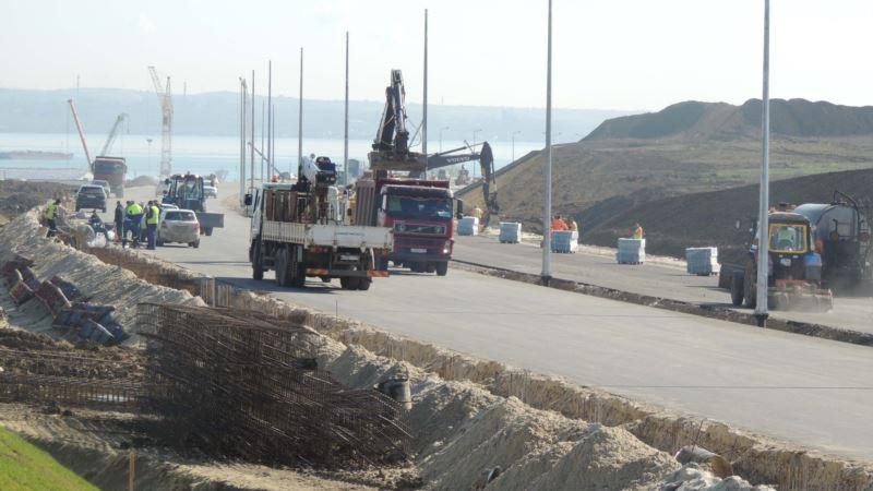 В Керчи асфальтируют участок дороги, примыкающей к Керченскому мосту (+фото)