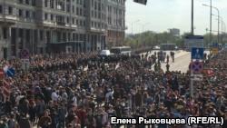 Пушкинская площадь в Москве, 5 мая 2018 года