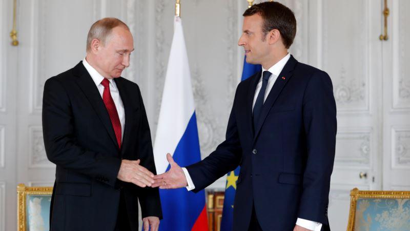 Президент Франции Макрон встретиться с Путиным в Санкт-Петербурге