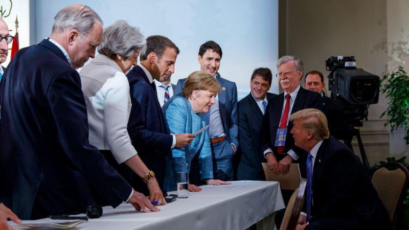 Фотография разговора Меркель и Трампа стала мемом в интернете