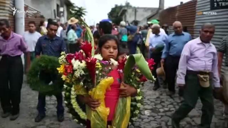 Число жертв извержения вулкана в Гватемале приблизилось к 100 (видео)