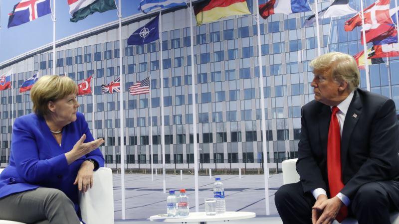 Трамп и Меркель провели переговоры один на один