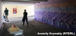 В подземном переходе Симферополя нарисовали лавандовое поле (+ фото)