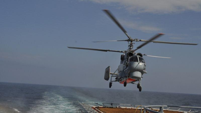 Военный вертолет России летал над Средиземным морем