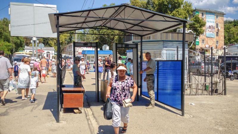 Севастополь: на катерной переправе на площади Захарова появились рамки металлодетекторов (+фото)