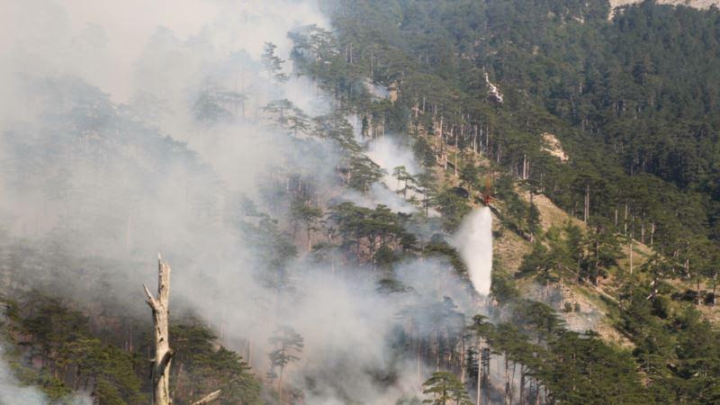 В Крыму до среды объявлена чрезвычайная пожарная опасность