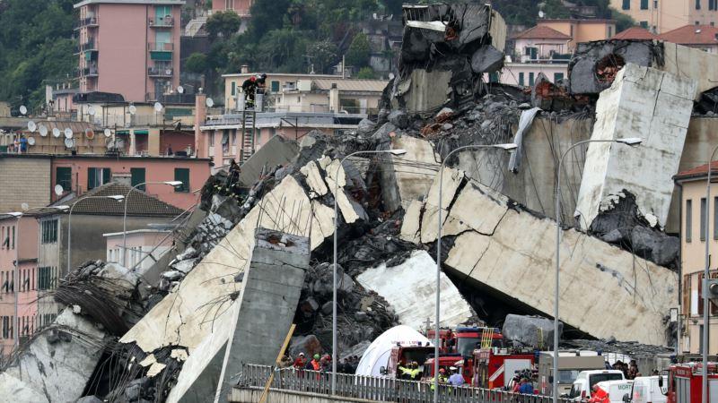 Италия: возросло количество жертв обрушения моста в Генуе