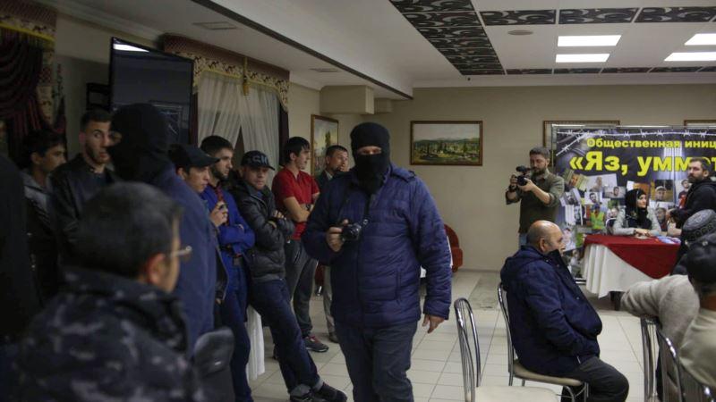 «Маски-шоу». Российские силовики снова пришли на заседание «Крымской солидарности» (фоторепортаж)