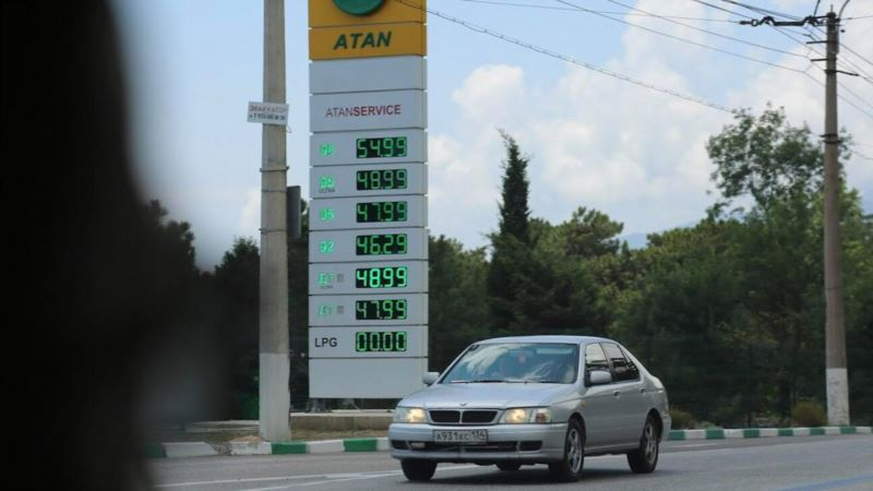 В Симферополе снова поднялись цены на бензин