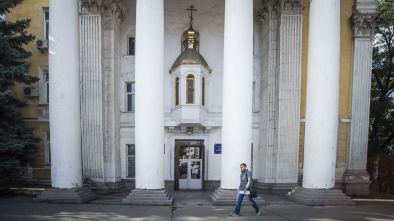 Кафедральному собору Симферополя подарили икону на праздник Покрова (+видео)