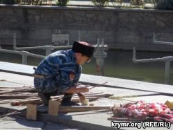 В Ялте казаки состязались с детьми в рубке шашкой (+фото)