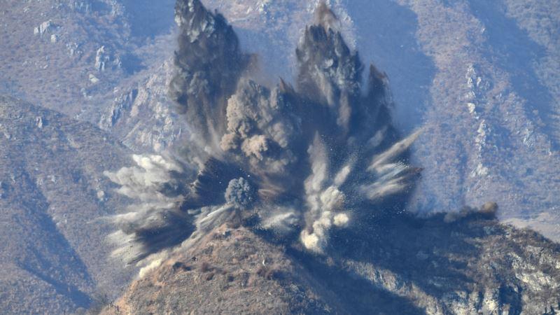 Северная Корея взорвала охранные посты на южной границе