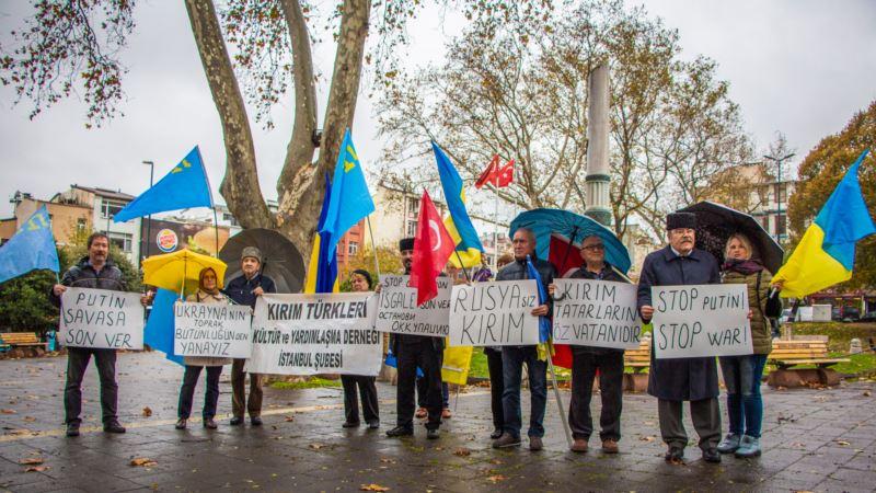 В Стамбуле прошла акция в поддержку суверенитета Украины (+фото, видео)