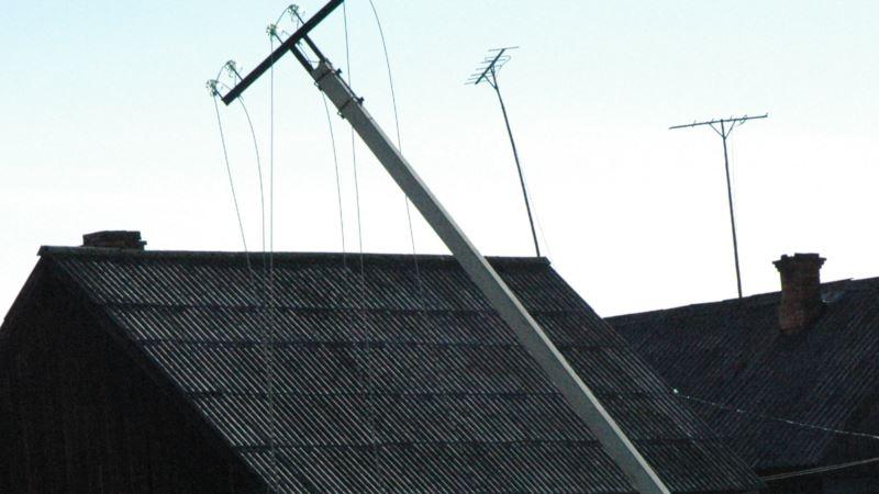 Непогода в Крыму: пять населенных пунктов остались без света