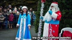 В Красноперекопске открыли новогоднюю елку (+фото)