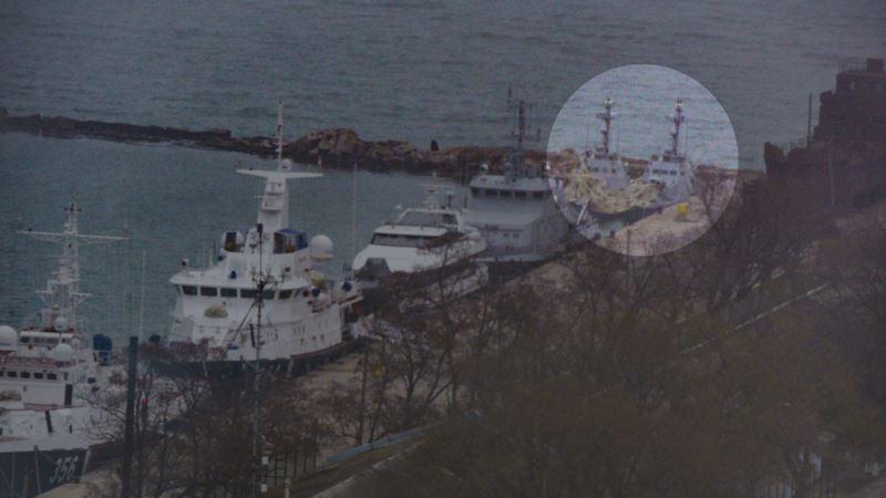 Журналисты Крым.Реалии нашли украинские военные катера в порту Керчи (+фото)